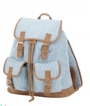 Campus Seersucker Backpack