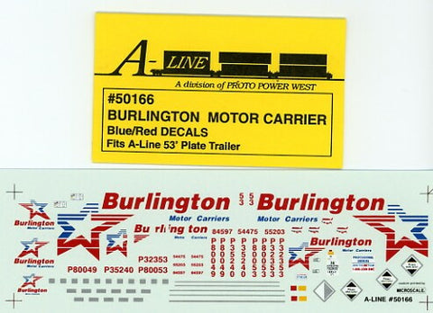 #50166 - 53' Plate Trailer - Burlington Blue & Red