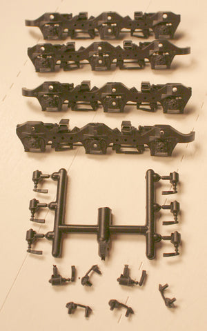 #ATHSF-102,   SD40-2, T-2  Sideframe Set (plastic)- Fits Athearn Trucks