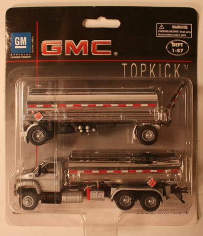 B #004S   GMC  Silver    Boley Depart. 1-87 vehicles  double tanker