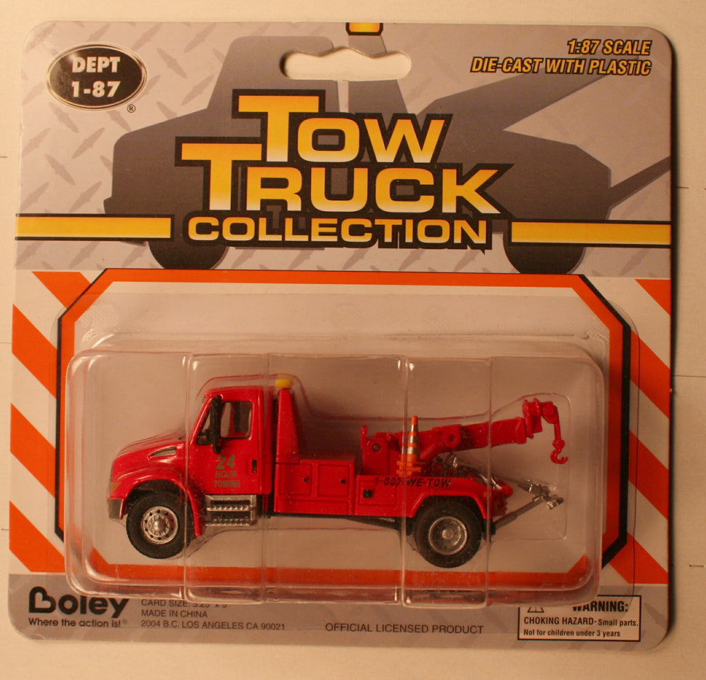 B #015R     Intern  Red  Tow trk   Boley Depart. 1-87 vehicles