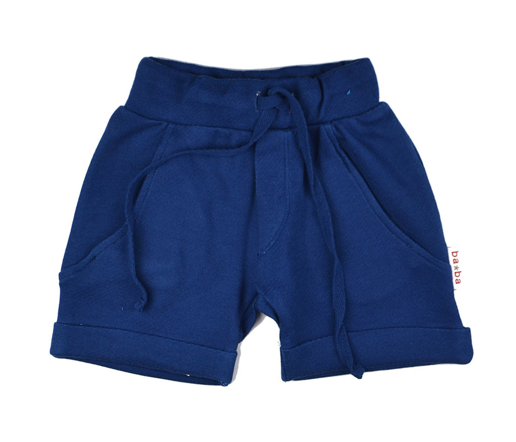 Baba Babywear - Baggy Shorts Double Knitted Blue