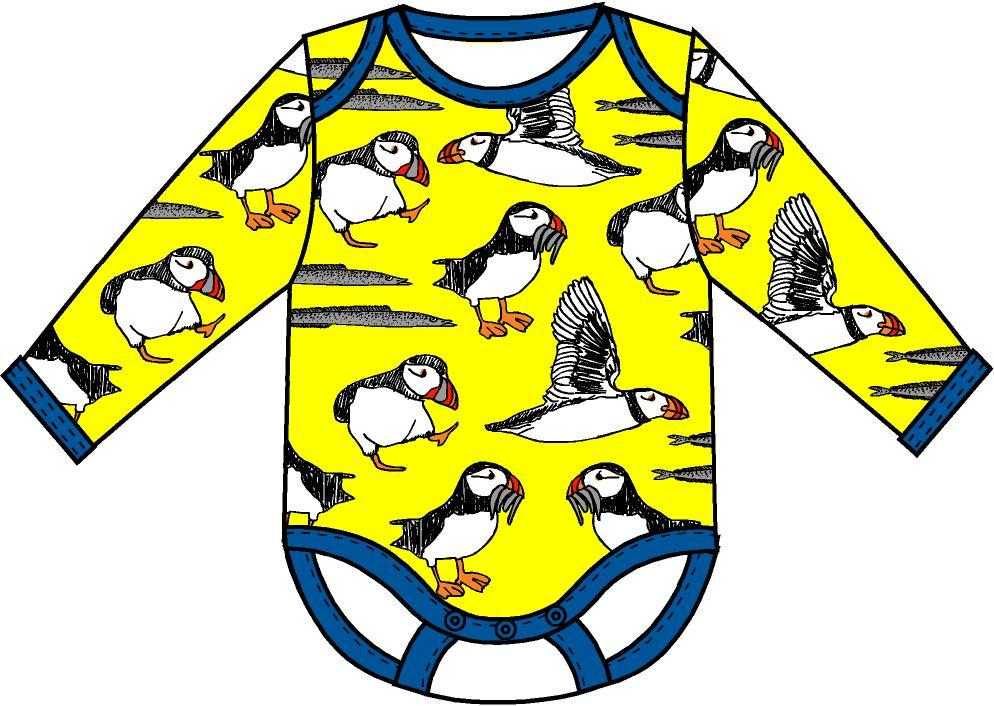 Duns Sweden - Body Longsleeve Romper Puffin Yellow