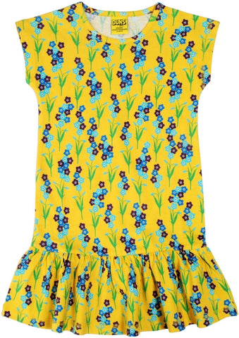 Duns Sweden - Capsleeve Dress Forget me not Yellow