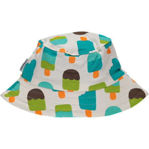 Maxomorra Sunhat Icecream White - Zonnehoedje Ijsjes