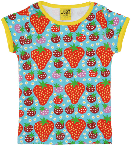 Duns Sweden - T-Shirt Strawberry Fields Light Turquoise