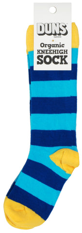 Duns Sweden Kneesocks Striped Blue/Turquoise