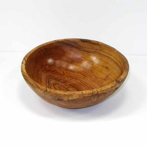 9-Inch Handcarved Olive Wood Bowl-Snazzy Bazaar