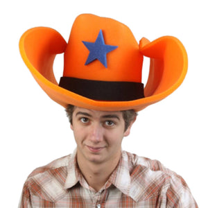 "Super Size 50 Gallon Cowboy Hats - Orange (28"")"