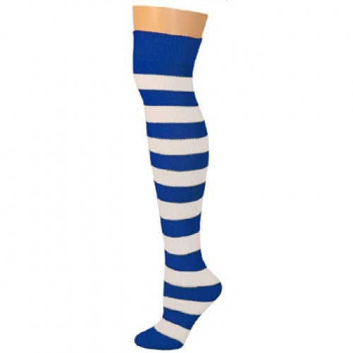 Striped Socks - Blue/White