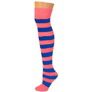 Striped Socks - Pink/Blue