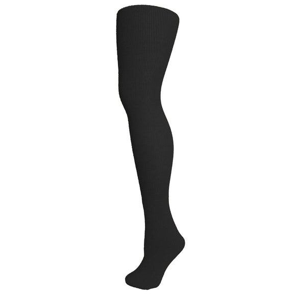 Adult Thigh High Solid Socks - Black