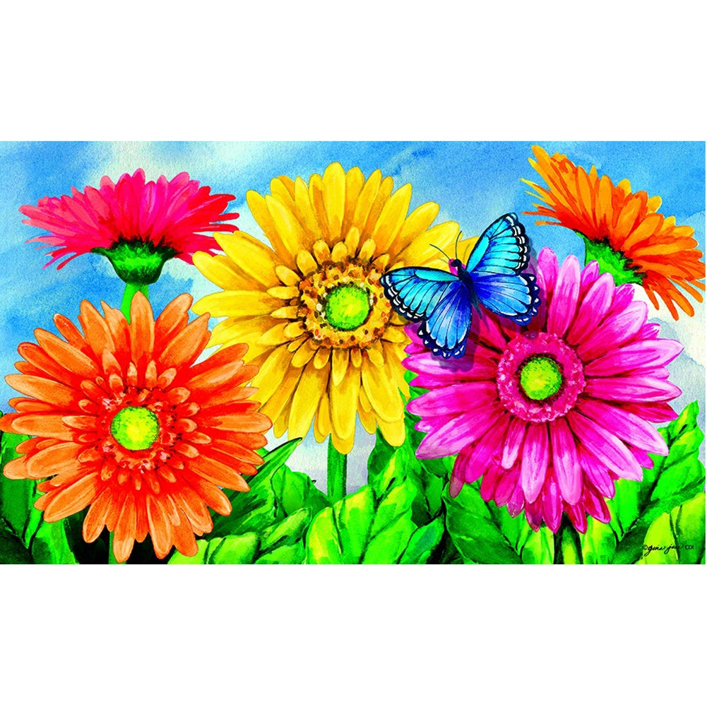 Gerbera Welcome By Gina Jane Doormat