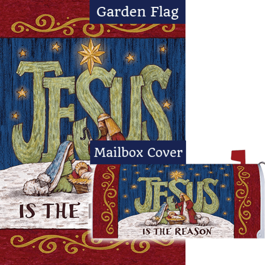 Jesus Is The Reason By Tina Wenke Flag Mailwrap Set (2 Pieces)