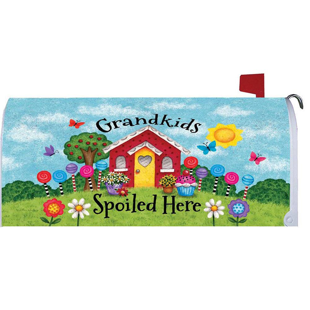 Grandkids Spoiled Here Mailbox Cover