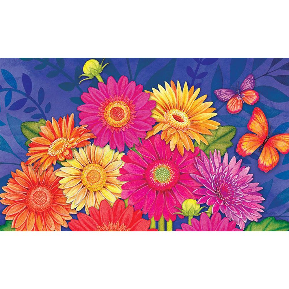 Glorious Gerberas Doormat