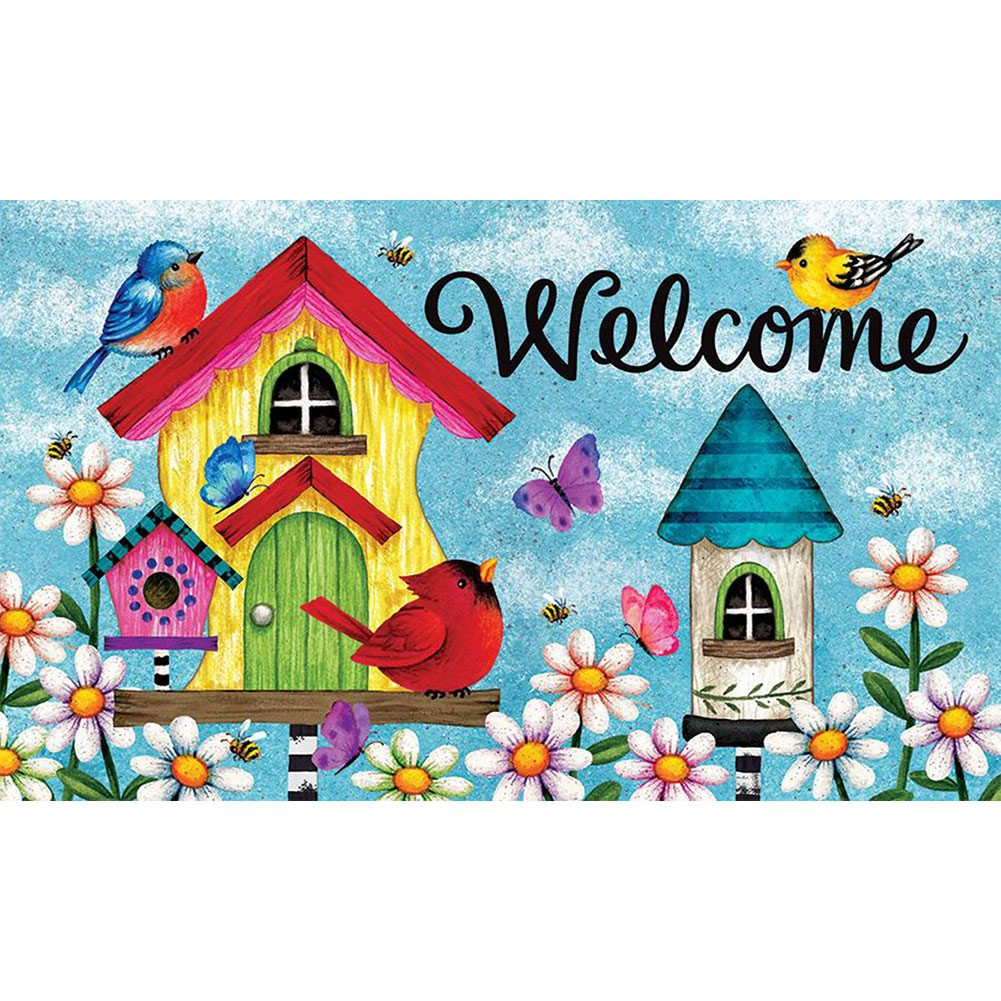 Whimsy Birdhouse Doormat