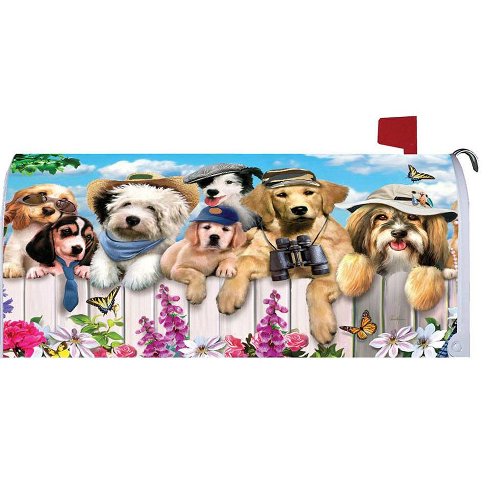 Dapper Dogs Mailbox Cover