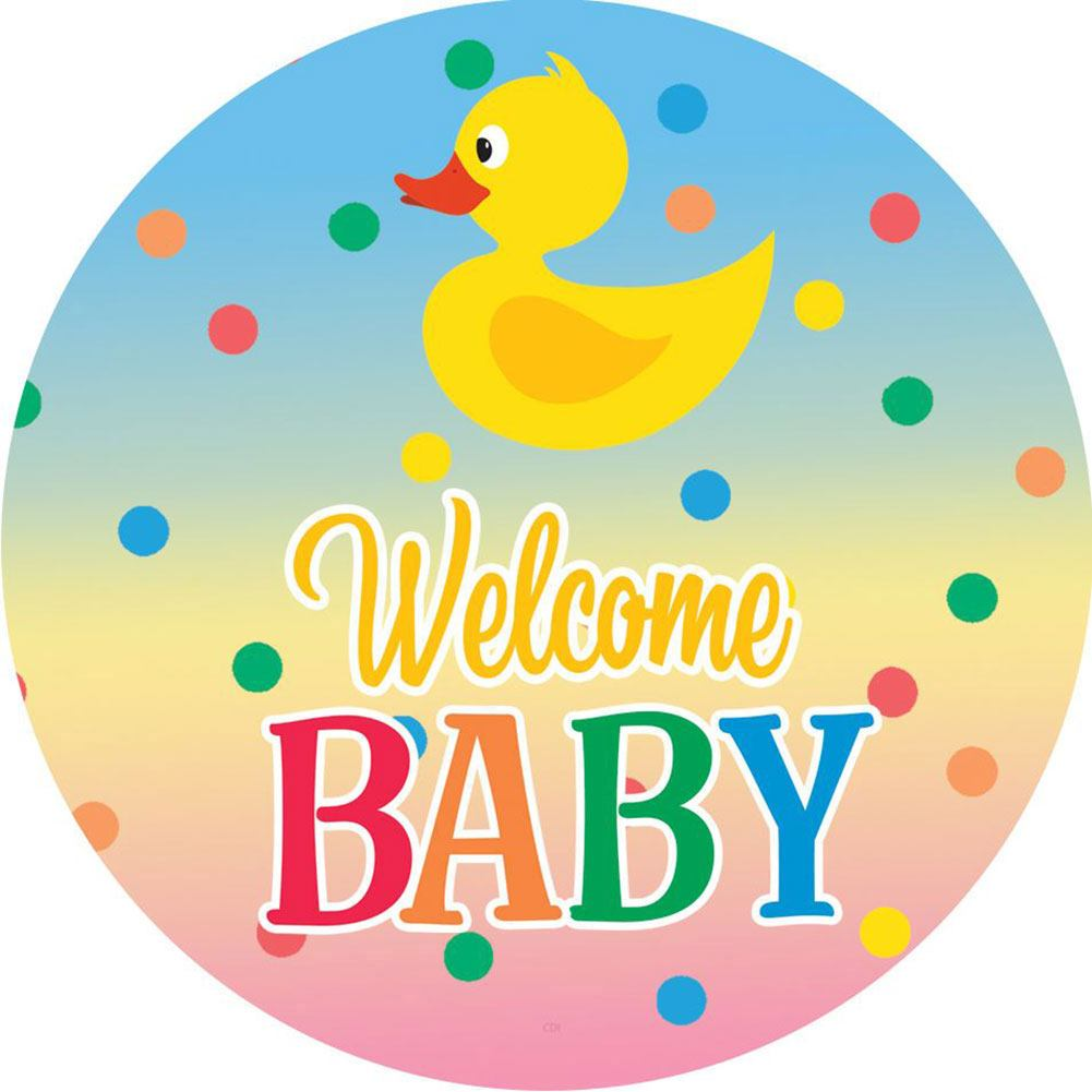 Welcome Baby Polka Dots Accent Magnet