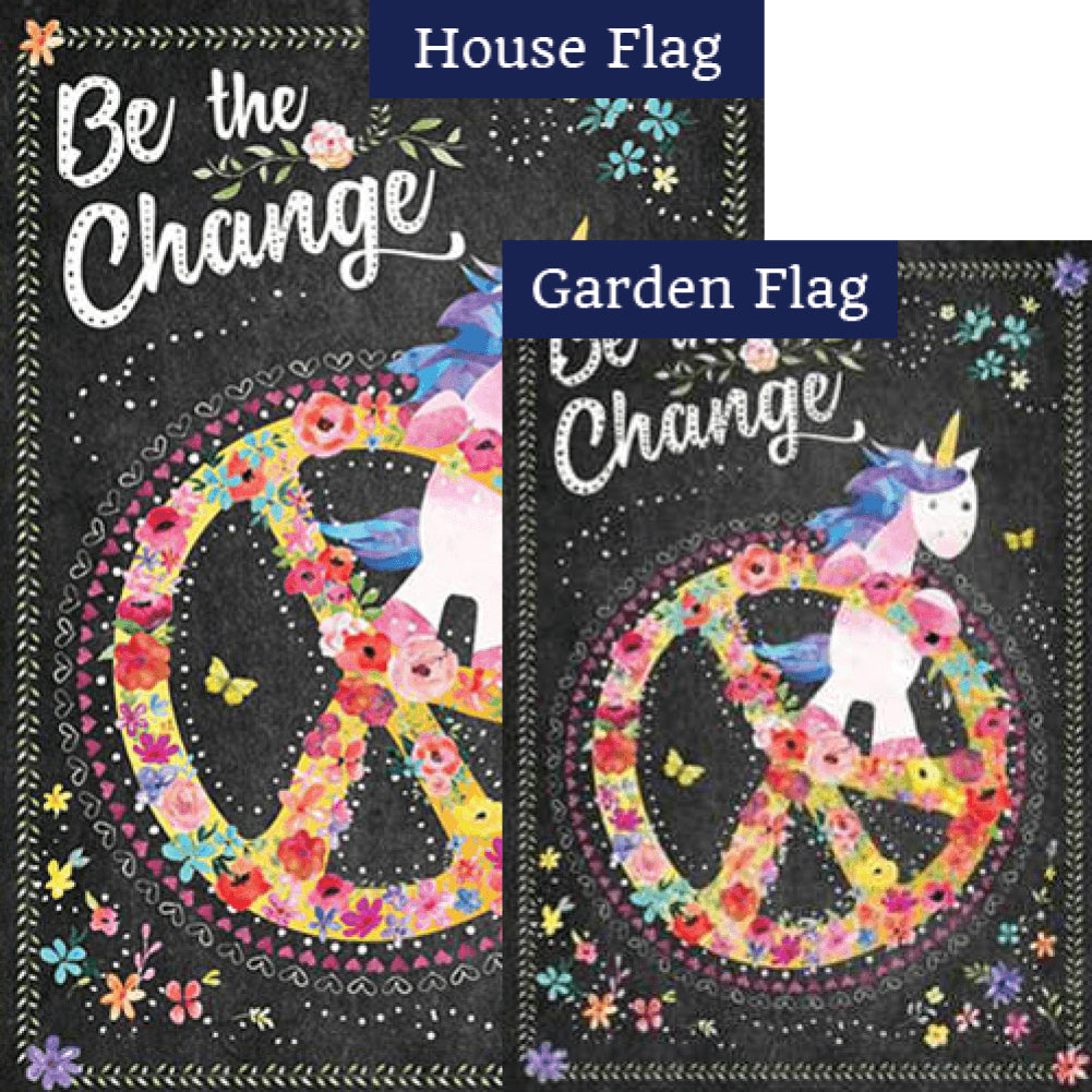 Be The Change Flags Set (2 Pieces)