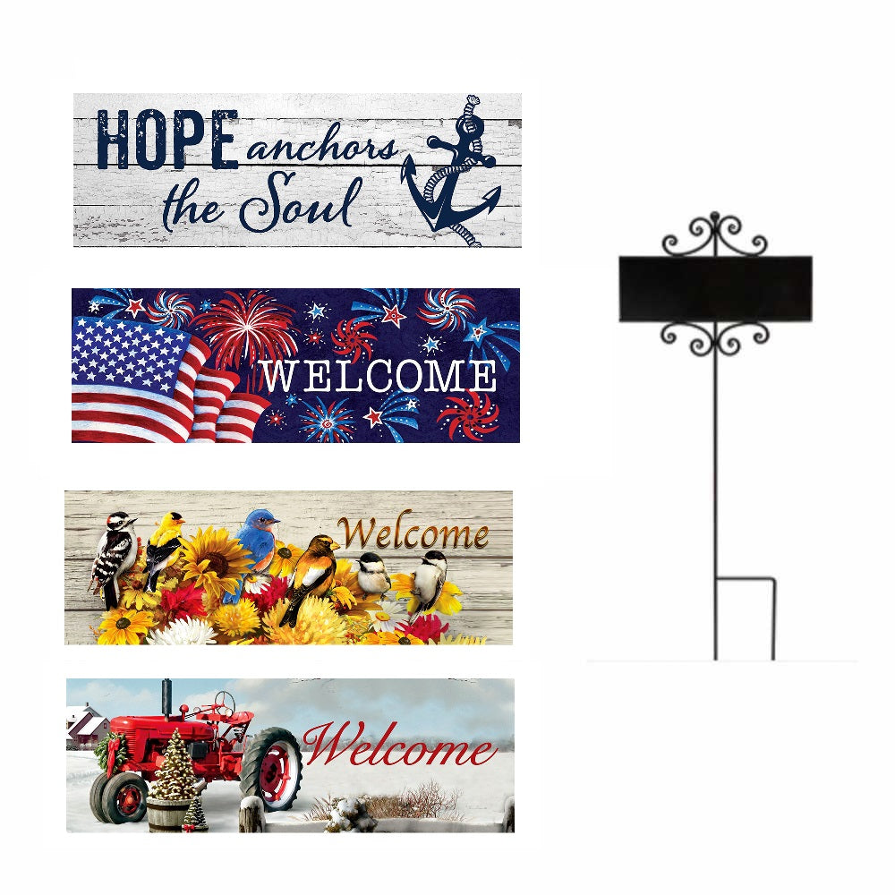 Set of 4 Signature Sign Inserts & One Stake