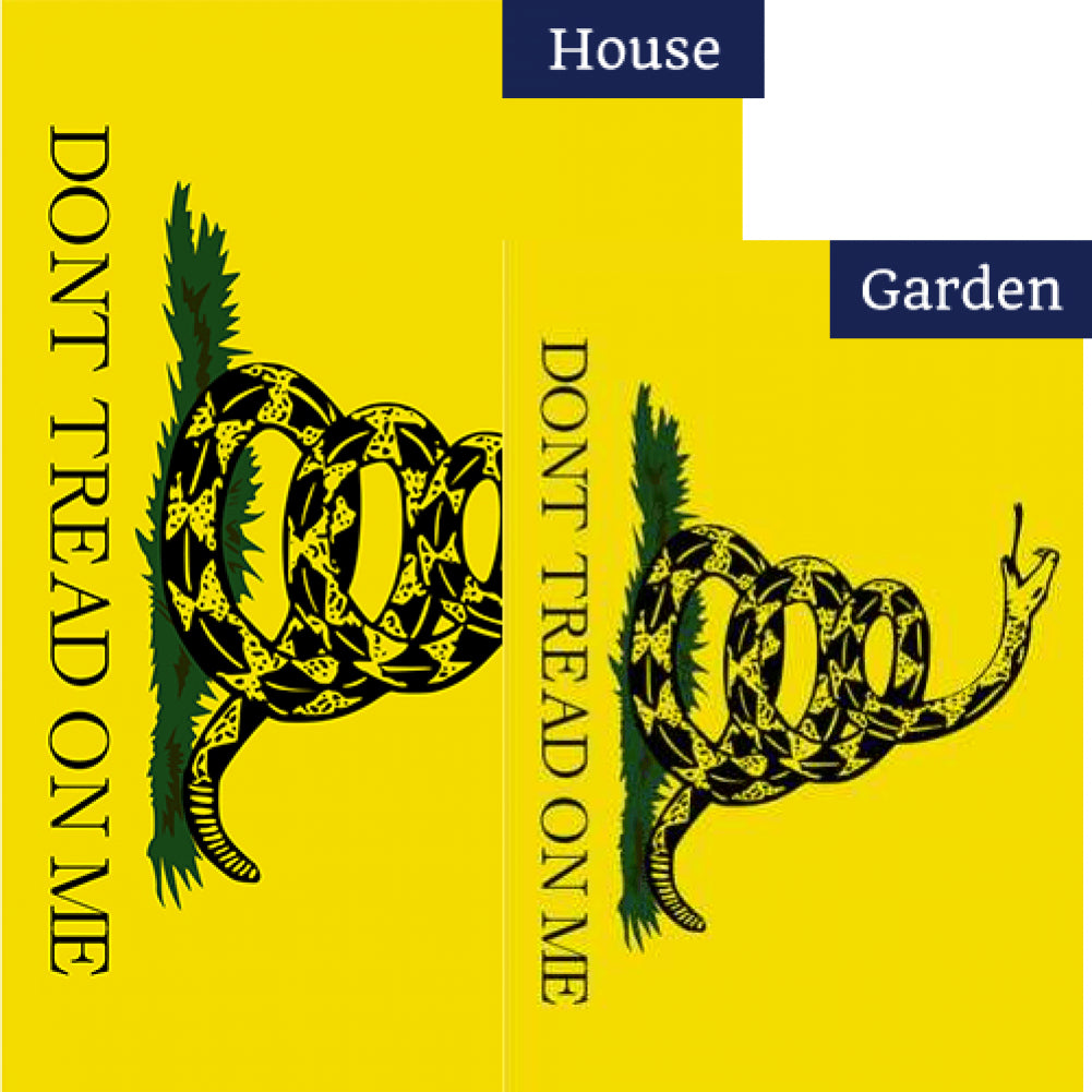 Don't Tread on Me Horizontal Flags Set (2 Pieces)