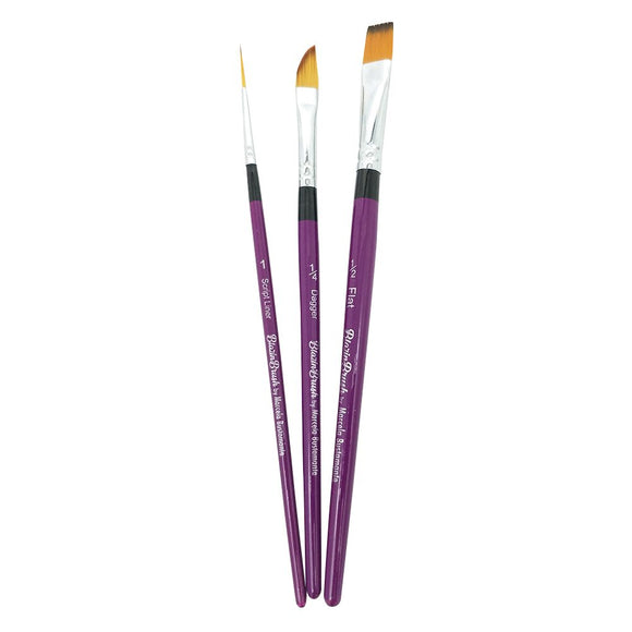 Blazin Brush Set by Marcela Bustamante - (Liner #1, Flat 1/4
