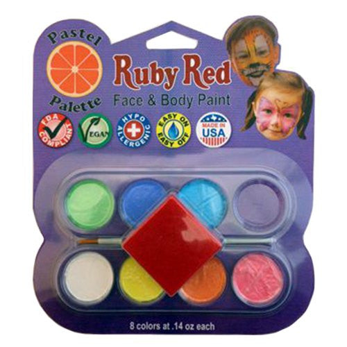 Ruby Red Pastel Face Paint Palette (8 Colors)