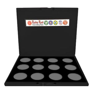 Ruby Red Empty Face Paint Palettes (12 Colors)