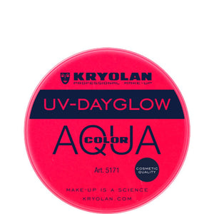 Kryolan Aquacolor Cosmetic Grade UV-Dayglow -Red (8 ml)