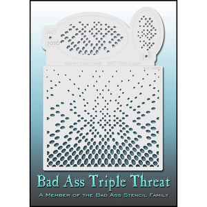 Bad Ass Triple Threat Stencil - Scatter 7026