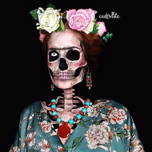 Frida Khalo Skull by Ana Cedoviste: 31 Days of Halloween