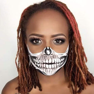 Half Face Skull Mask by zuri Fx