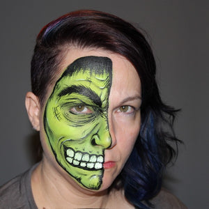 Hulk Inspired Half Face Design