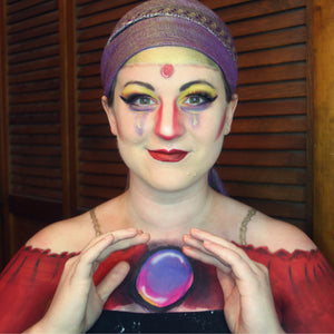 Crystal Ball Gypsy Face & Body Paint Video by PT Barpun