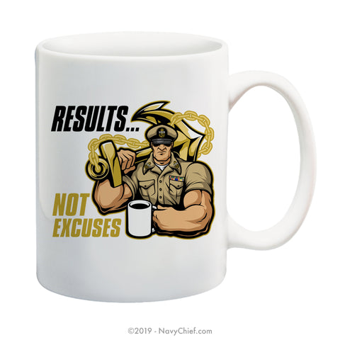 """Results"" Male - 15 oz Coffee Mug - NavyChief.com - Navy Pride, Chief Pride."