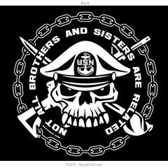 """Not All Brothers and Sisters Are Related"" T-shirt, Black - NavyChief.com - Navy Pride, Chief Pride."