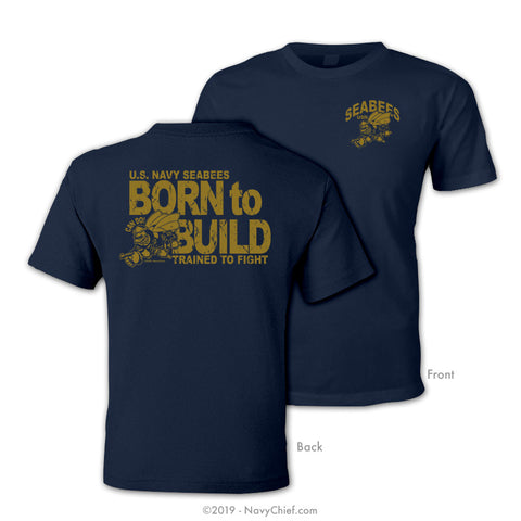 "Seabees ""Born to Build"" T-shirt, Navy - NavyChief.com - Navy Pride, Chief Pride."
