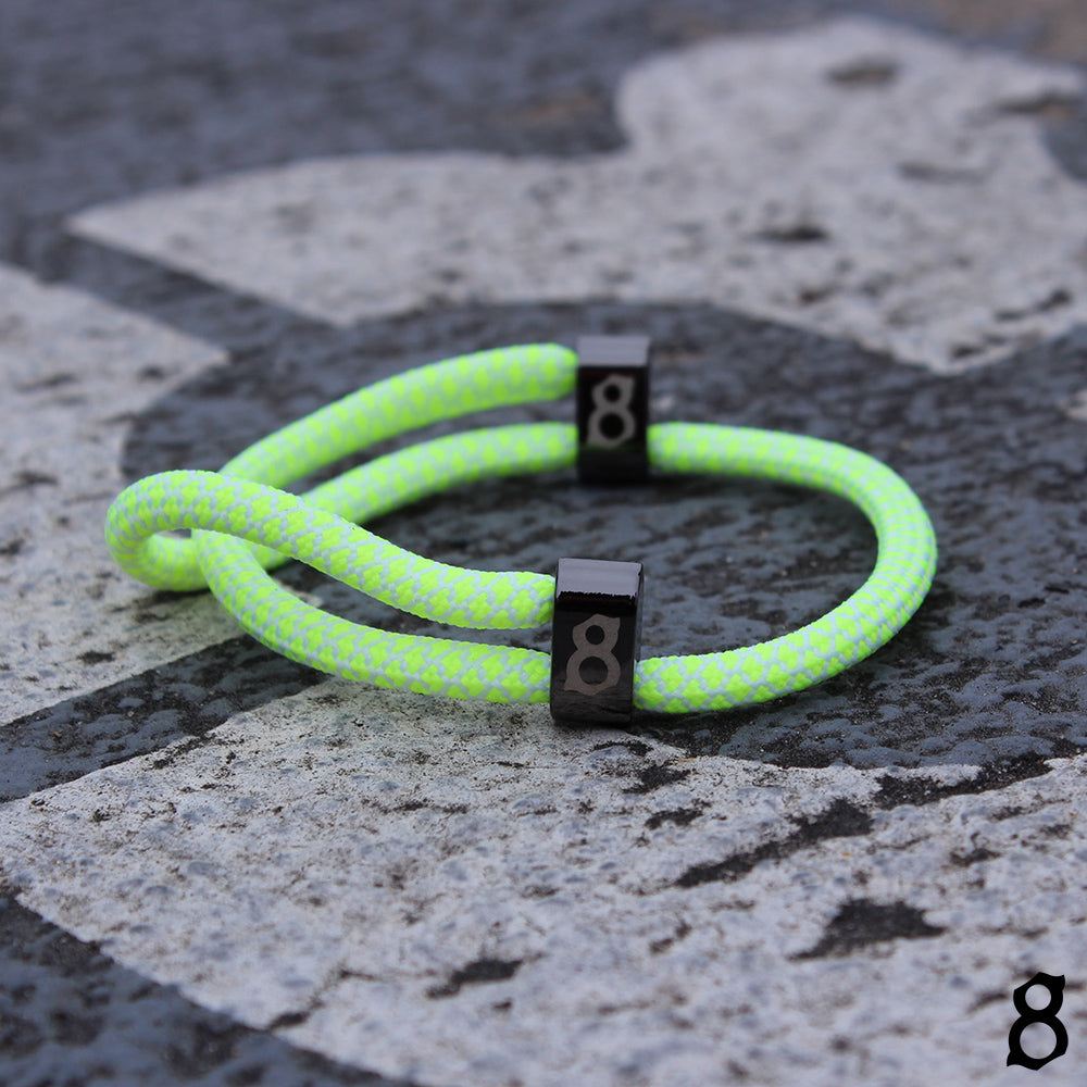 yellow and white (volt) rope st8te bracelet