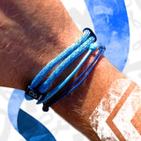 St8te Diabetes Bracelets 3 Adjustable Blue Sliders to Raise Awareness