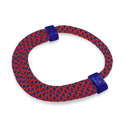 st8te Handmade Blue & Red (Flag) Rope Bracelet | Adjustable Slider