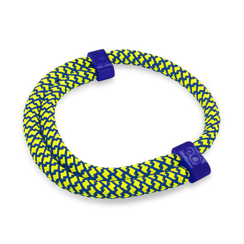 "st8te Handmade ""Metro"" Blue & Yellow Rope Bracelet, Adjustable Slider"