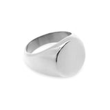 st8te - Stainless Steel Silver Signet Ring Available in 8 sizes