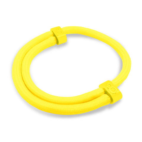 st8te Handmade Yellow Rope Bracelet, Adjustable Color Sliders