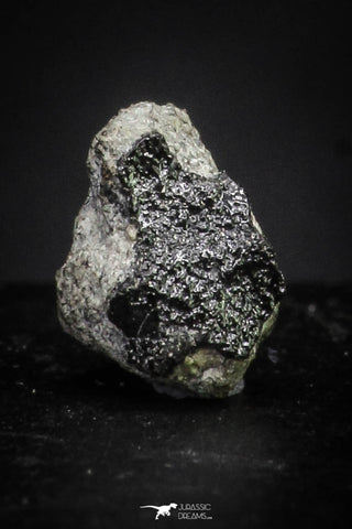 "21371 - Top Rare ""Tissint"" MARTIAN Shergottite Meteorite 0.121g with Fusion Crust"