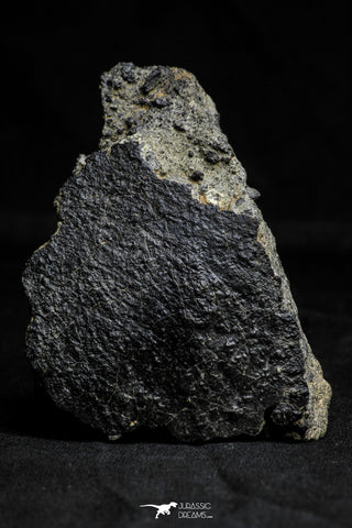 21537 - Top Rare Unclassified NWA Howardite Achondrite Meteorite 165.12g with Fusion Crust