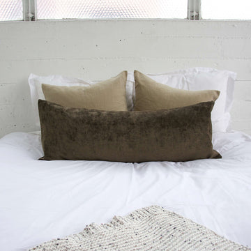 Brown Extra Long Lumbar Pillow