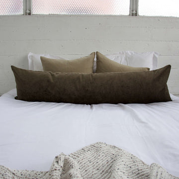 Brown Extra Long Lumbar Pillow - 14x50
