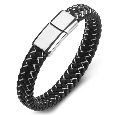 Perhiasan Gelang Leather Pria Vernyx Serpentine - VERNYX
