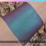 Multichrome eyeshadow green blue purple red tones